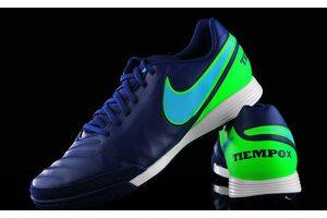 Кожаные сороконожки Nike Tiempo Genio II TF 819216-443