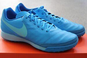 Кожаные сороконожки Nike Tiempo Genio II TF 819216-444
