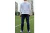 Парадный костюм сборной Украины Joma UKRAINE - бело-синий (толстловка+штаны)