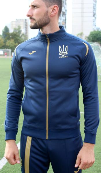 b7ed9329 Парадный костюм сборной Украины Joma UKRAINE - темно-синий (олимпийка+штаны)