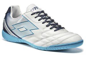 Обувь для зала Lotto SPIDER XI ID R8207 WHITE/BLUE BOMBAY